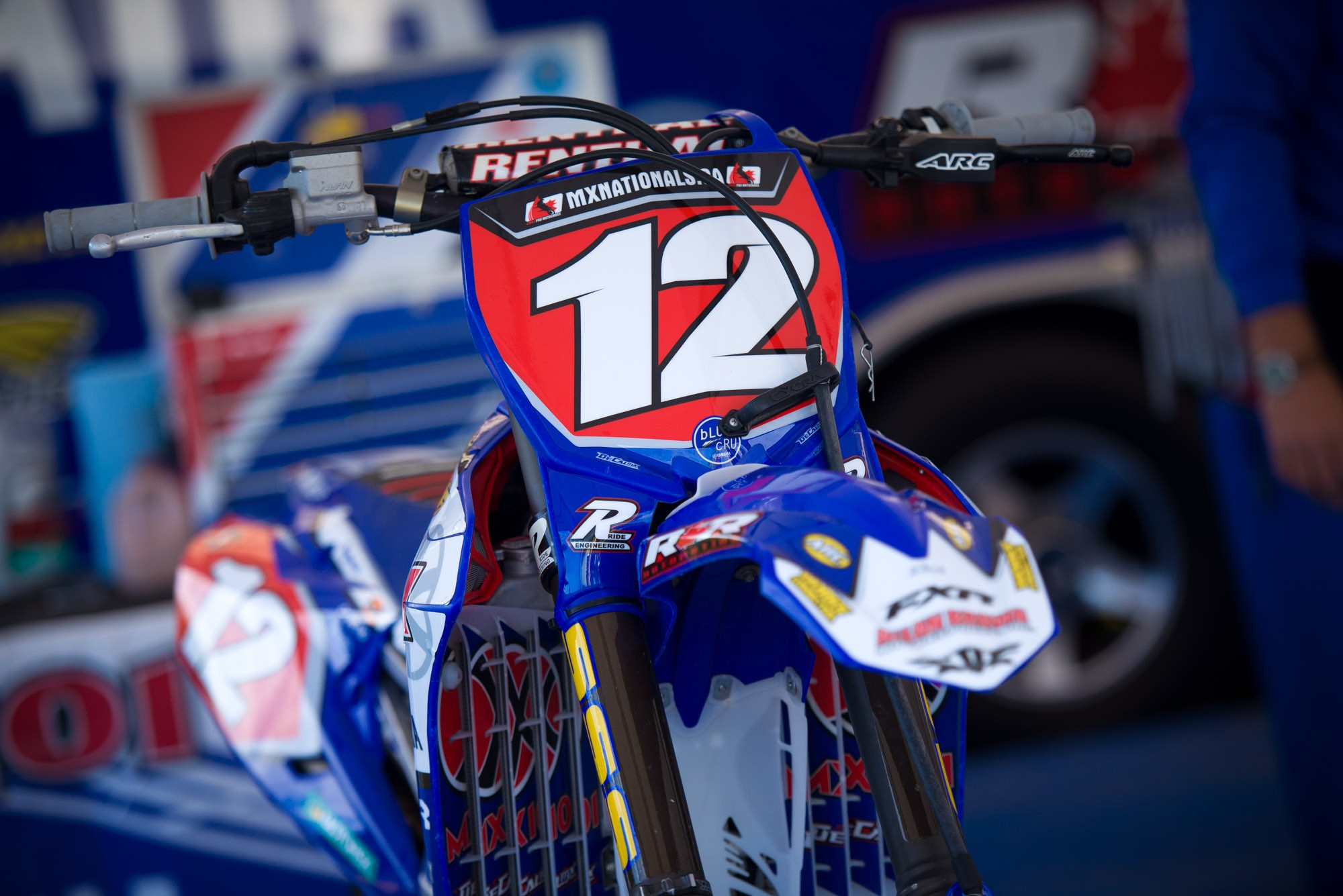 MX101 FXR Yamaha Team's Shawn Maffenbeier had the red plate on his bike at Round 8.