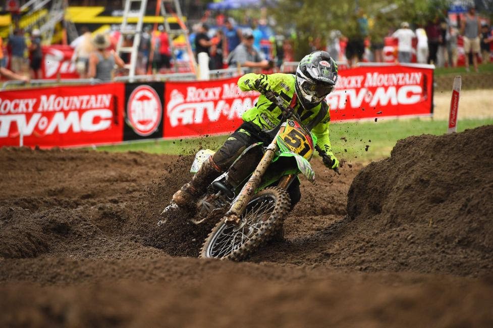 Seth Hammaker ran his own race in the ultra-competitive 250 B division.