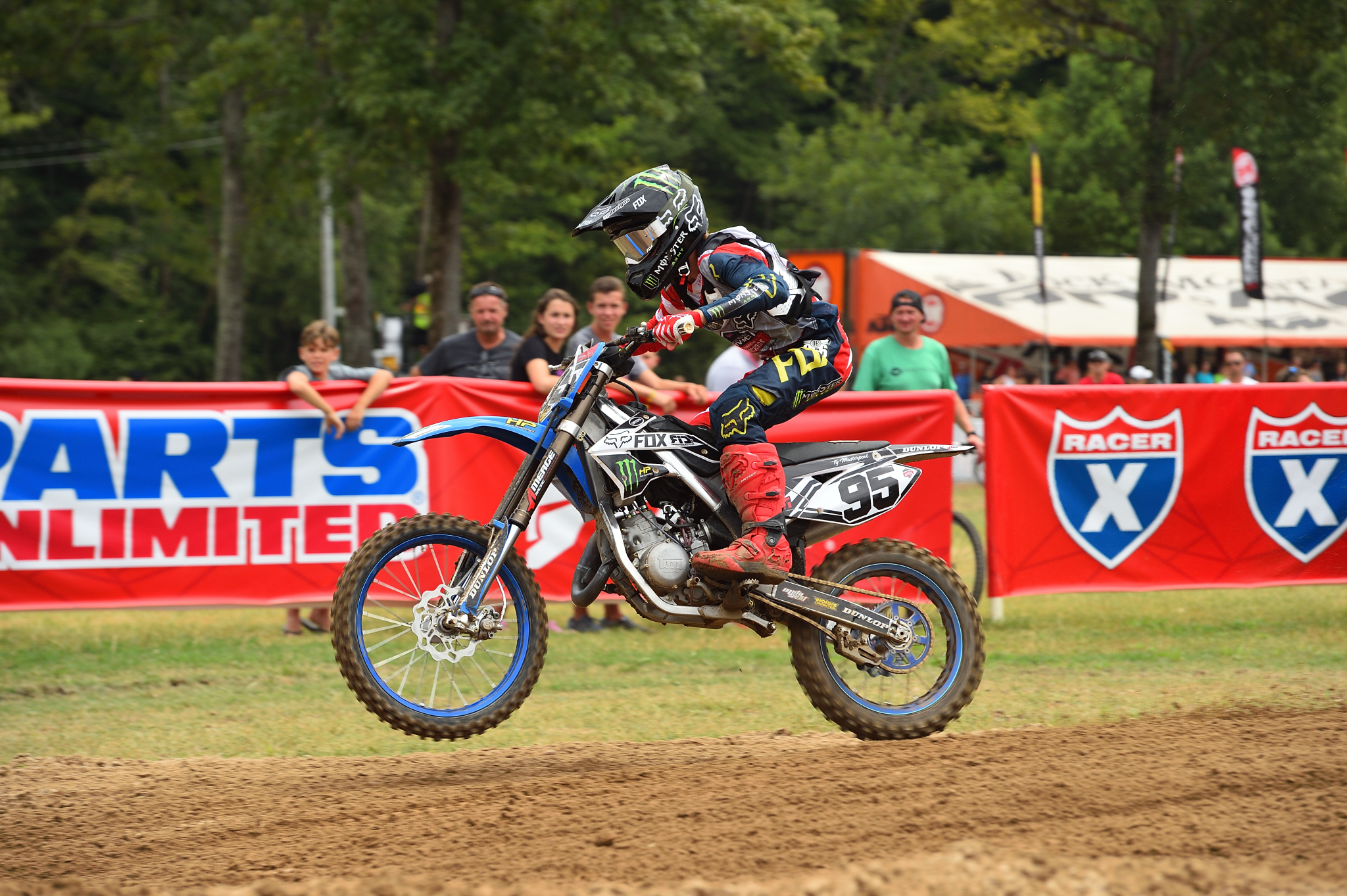 Ty Masterpool is the only competitor riding a TM in either of the Super Mini classes.