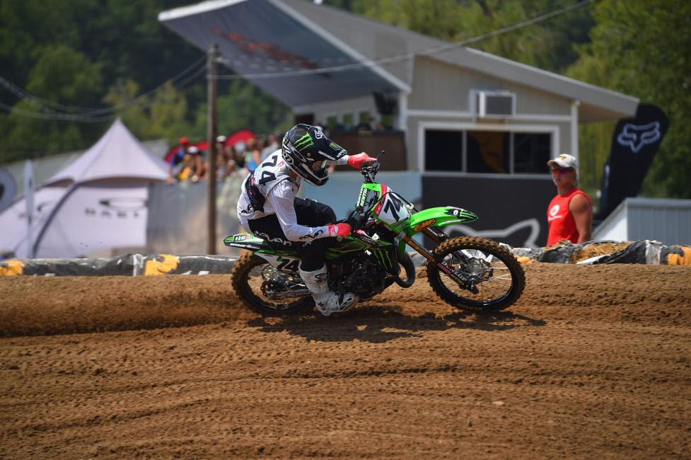 Dilan Schwartz scored his first win in the second moto of the Supermini 1 (12-15) class.