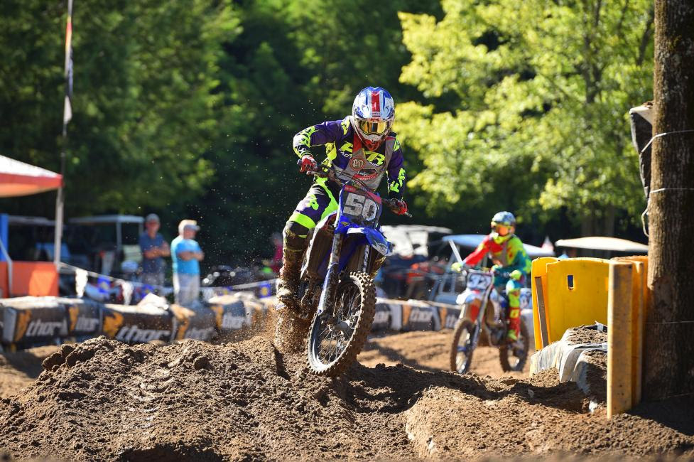 Wesley Allen made the pass for the lead on the second lap and secured the 450 C championship.
