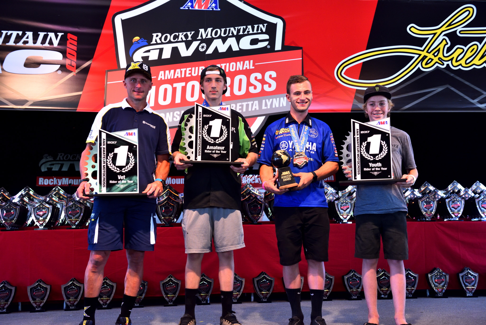 AMA Specialty Award Winners: Mike Brown, Garrett Marchbanks, Justin Cooper, Ty Masterpool.