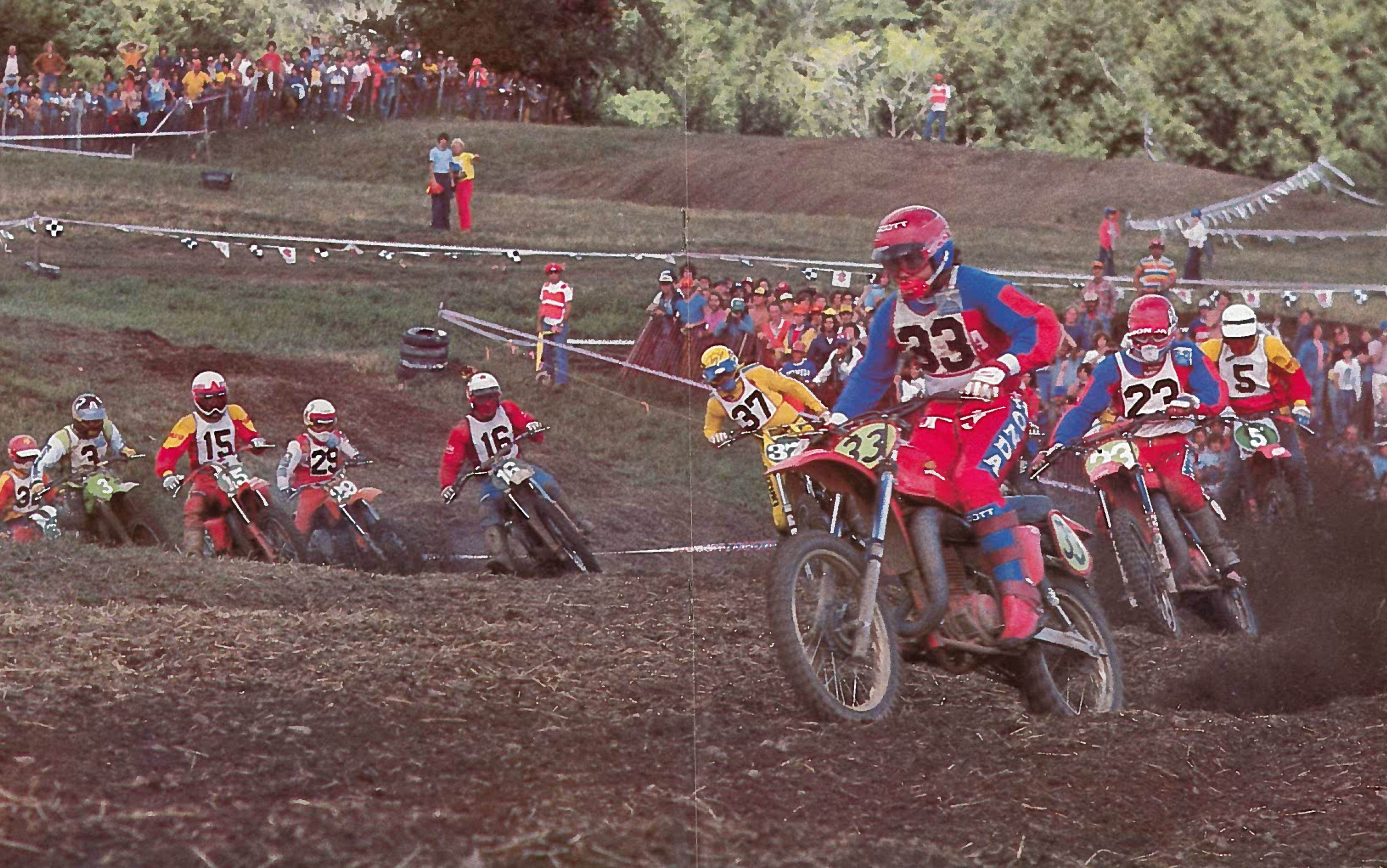 The affable Tripes (33) added the first 250cc USGP win to his first-ever supercross win from the 1972 Superbowl of Motocross at the Los Angeles Coliseum.