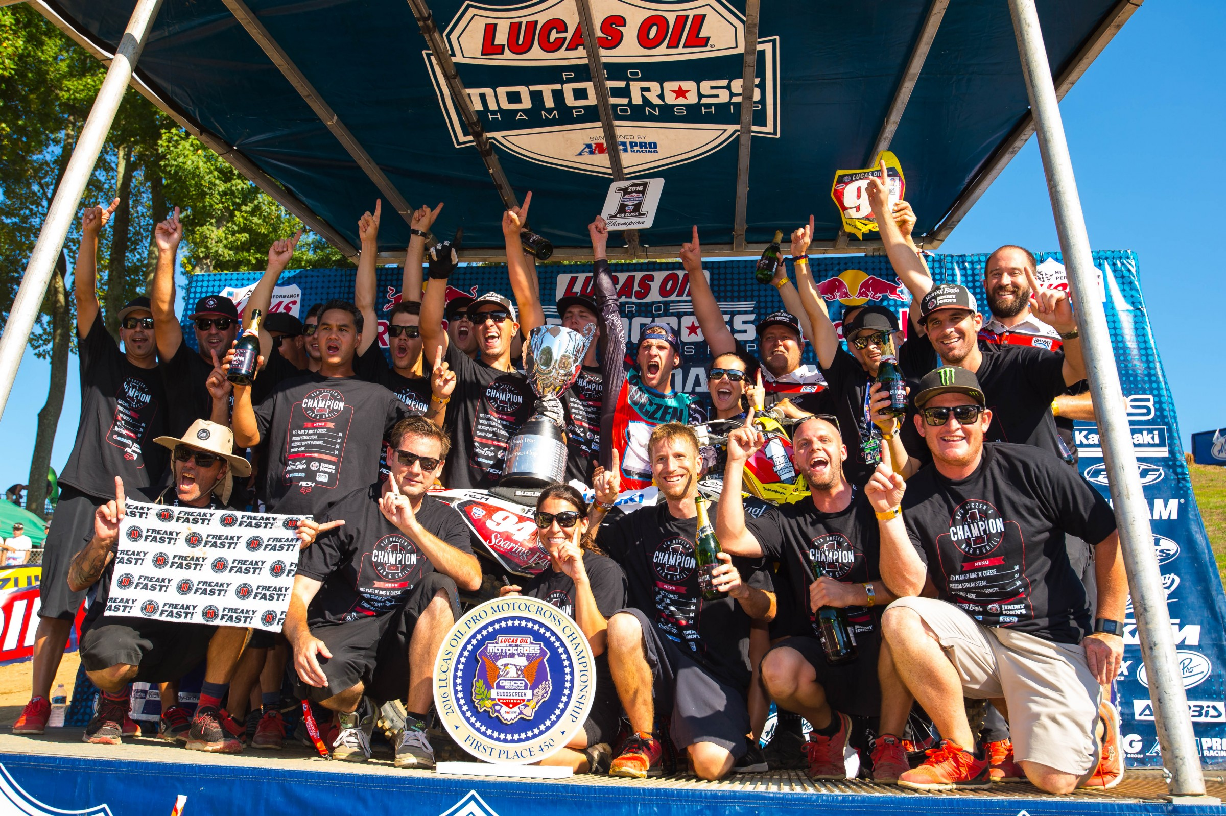 RCH was the first privately funded team to win a Lucas Oil Pro Motocross 450 Class Championship.