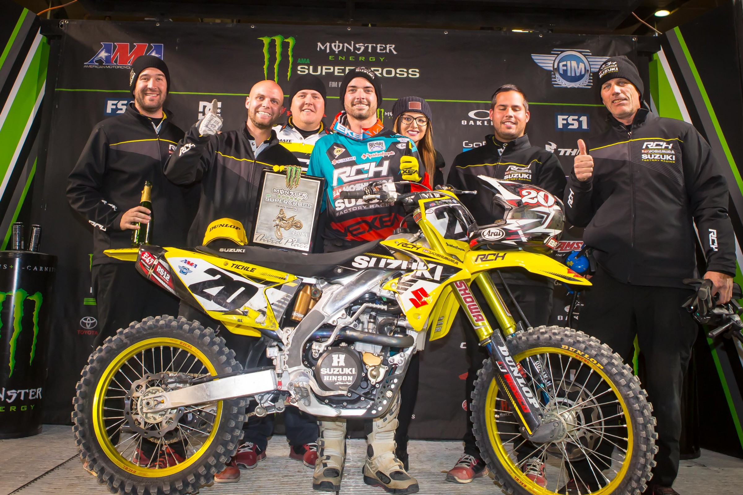 Tickle earned his first 450SX podium at the Toronto Supercross earlier this year.
