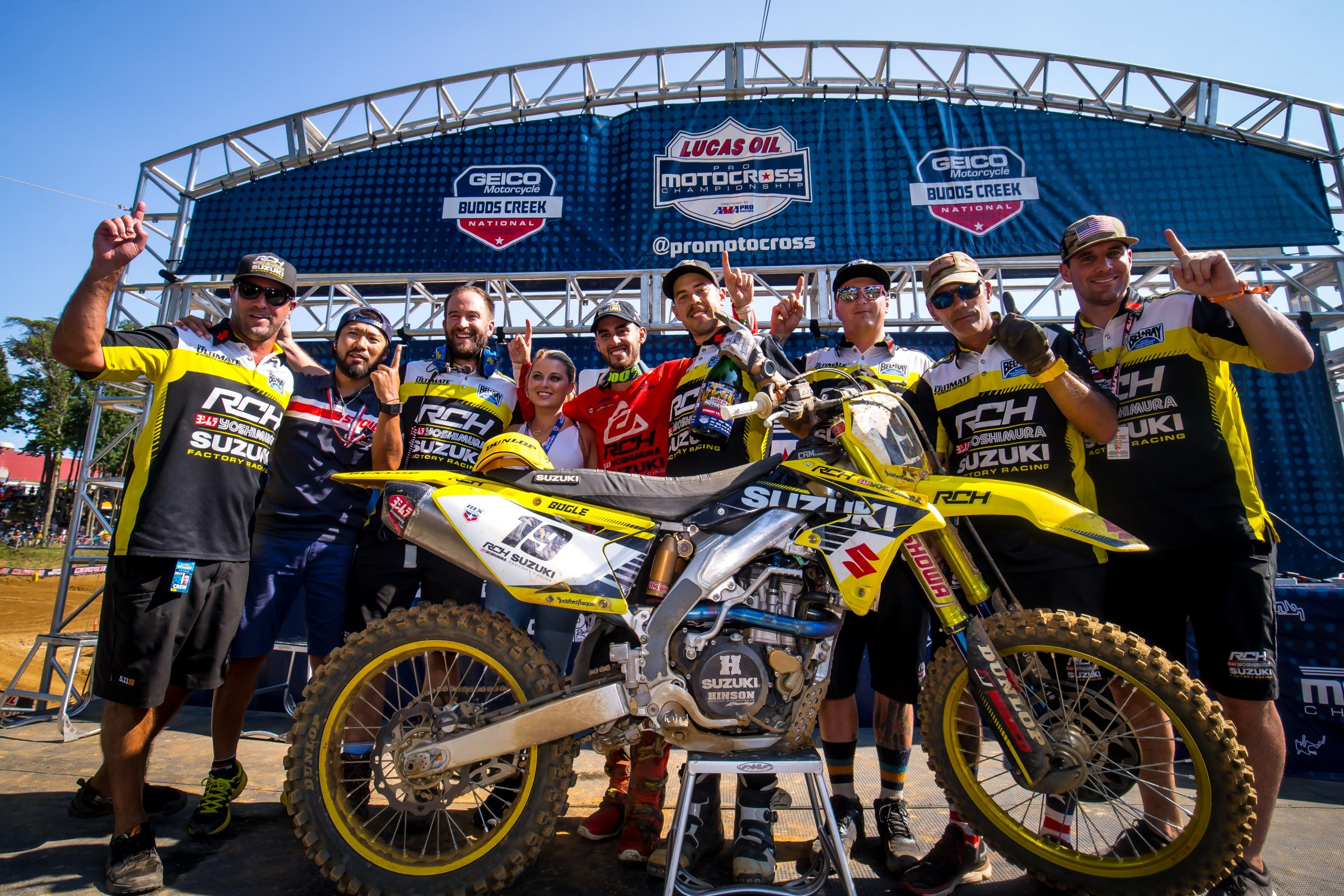 Bogle won his first Lucas Oil Pro Motocross overall at Budds Creek with 1-3 scores.