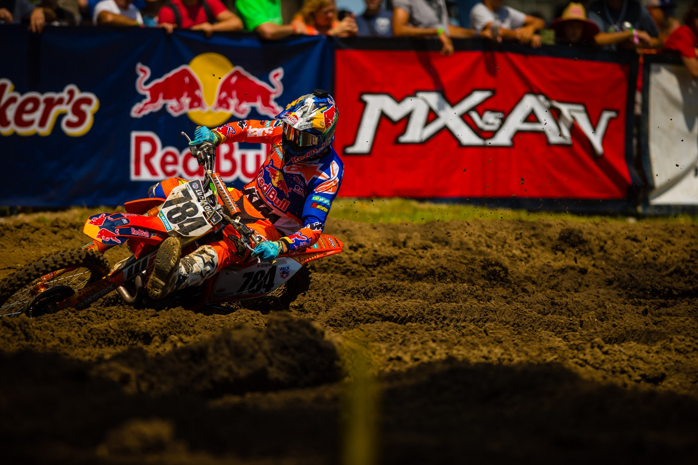 Herlings was noticeably quicker than the rest of the 450 Class in the rutted up corners at Ironman.