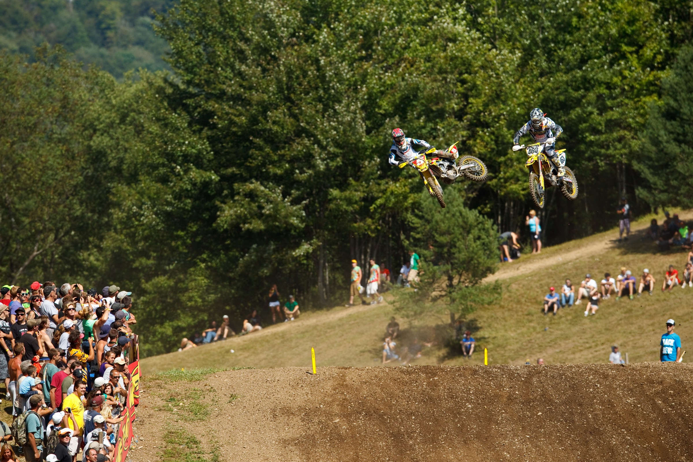 Desalle led for four laps in the second moto at Unadilla in 2010.
