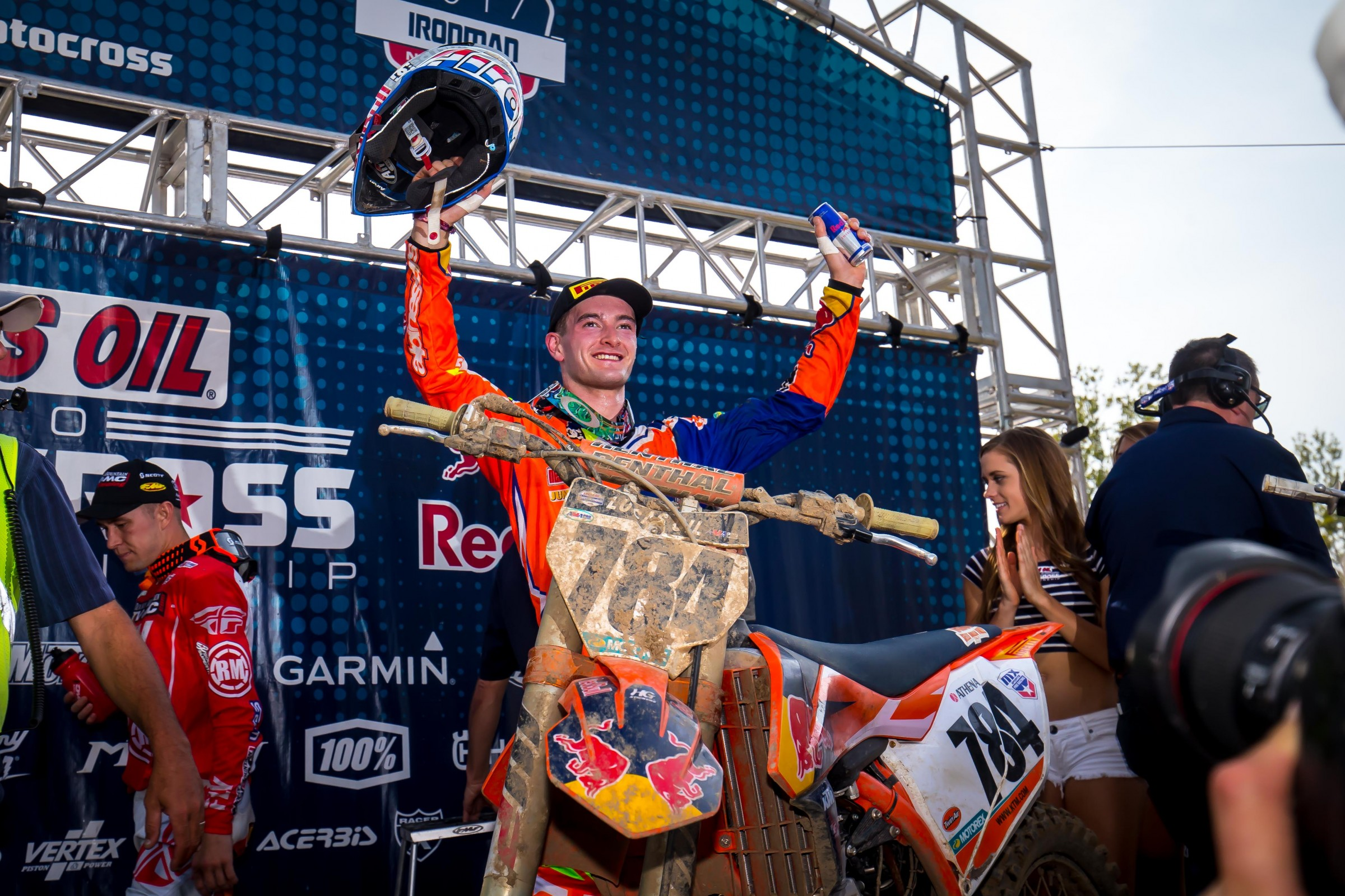 Herlings was all smiles after being the fastest rider in practice and sweeping both motos.