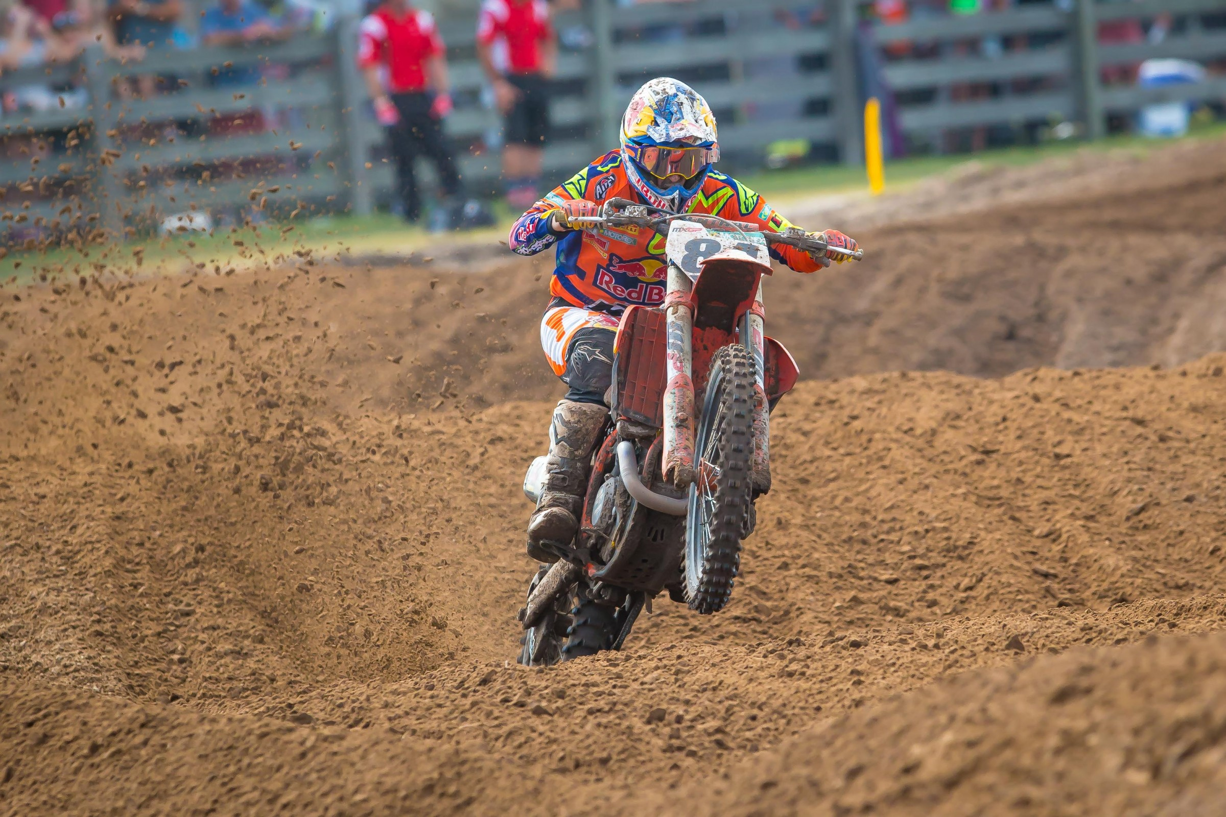 Jeffrey Herlings won the second moto en route to the overall.