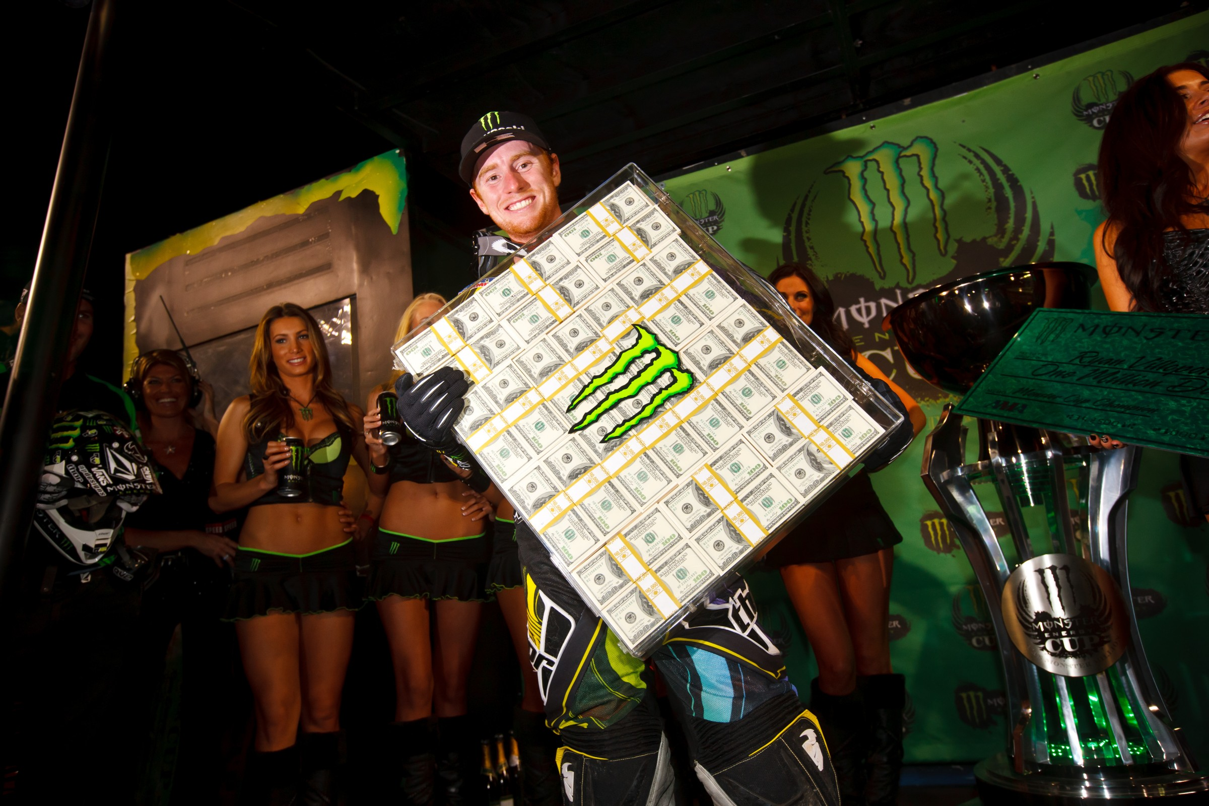 Ryan Villopoto is the only rider to win the Monster Million.