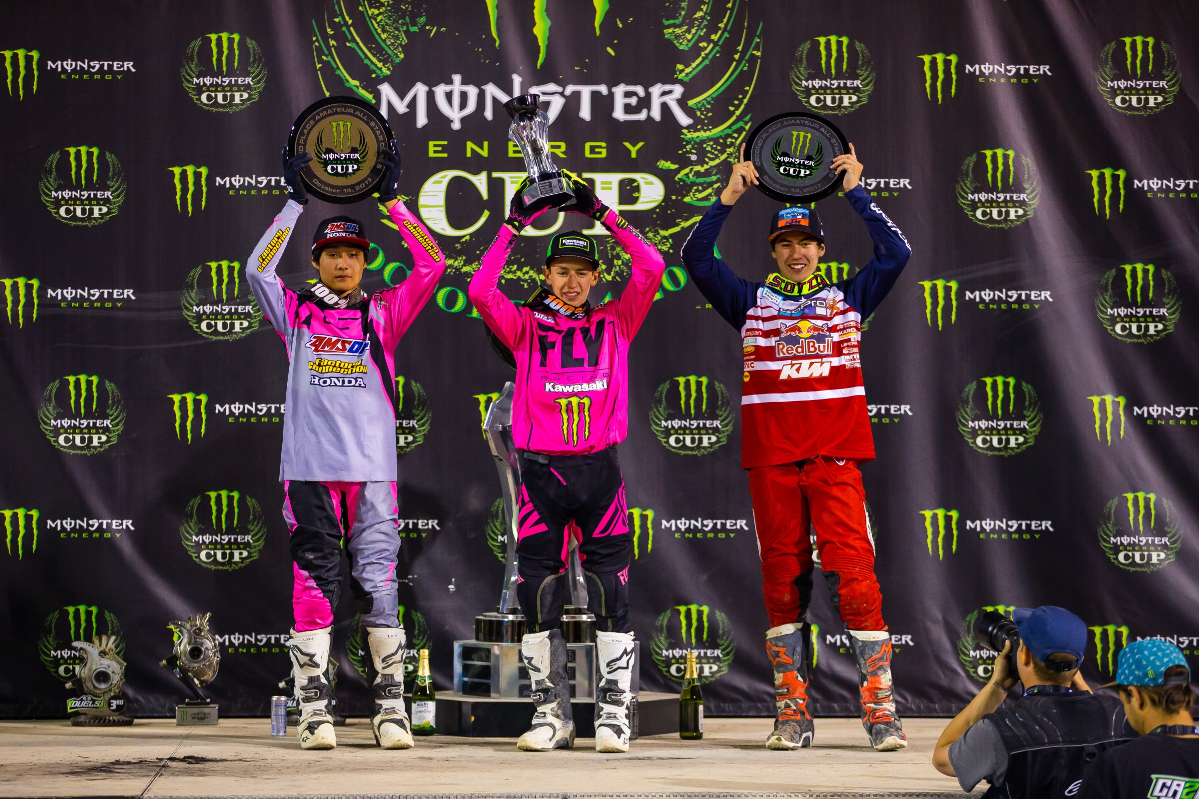 Amateur All-Stars podium.