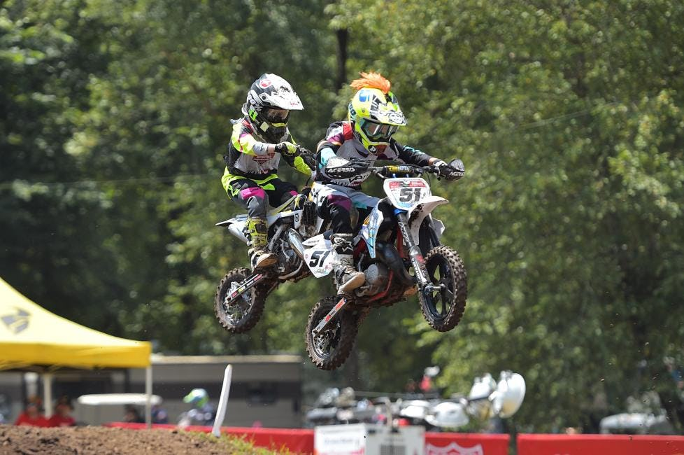 All four of the 51cc classes took to the track yesterday for their first motos of the week.