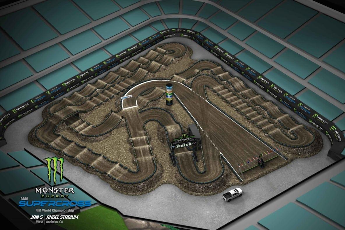 Resultado de imagem para supercross track maps 2019