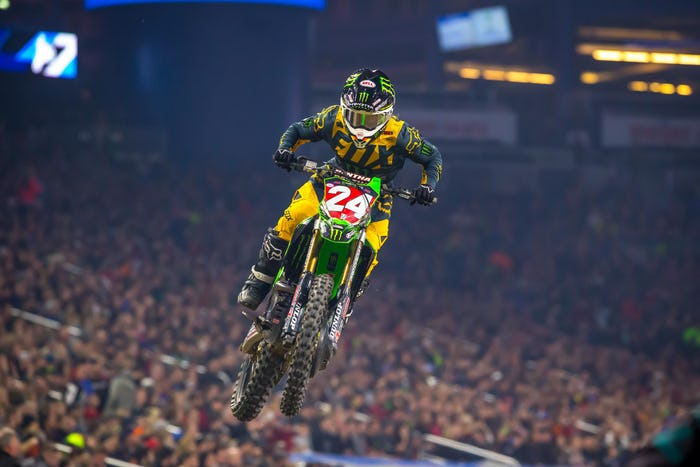 Austin Forkner set sail on his KX250 and cruised to three victories and the overall.