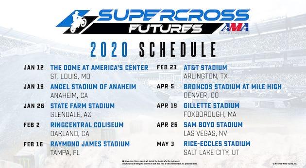 2020 Supercross Futures schedule