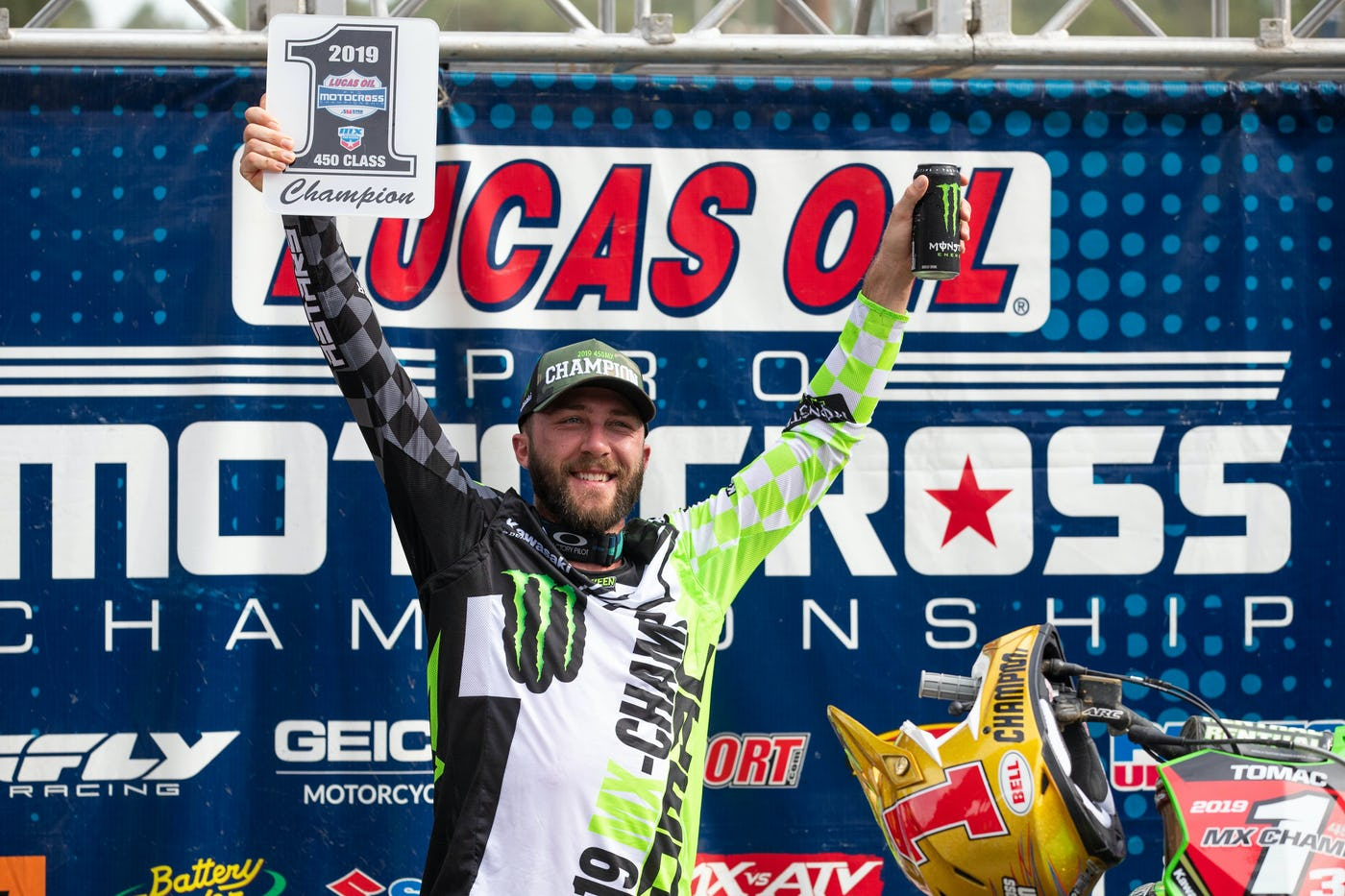 Eli Tomac becomes the fourth rider in history to three-peat as the premier class champion in the Lucas Oil AMA Pro Motocross Championship.