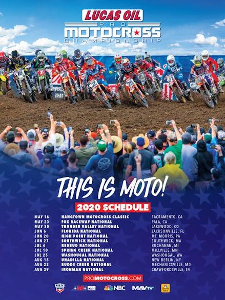 2020 Lucas Oil Pro Motocross Championship Schedule
