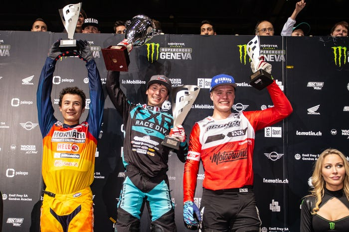 The Prince of Geneva (SX2) overall podium.