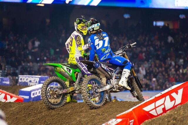 Cianciarulo led seven laps but a mistake handed the win to Barcia.