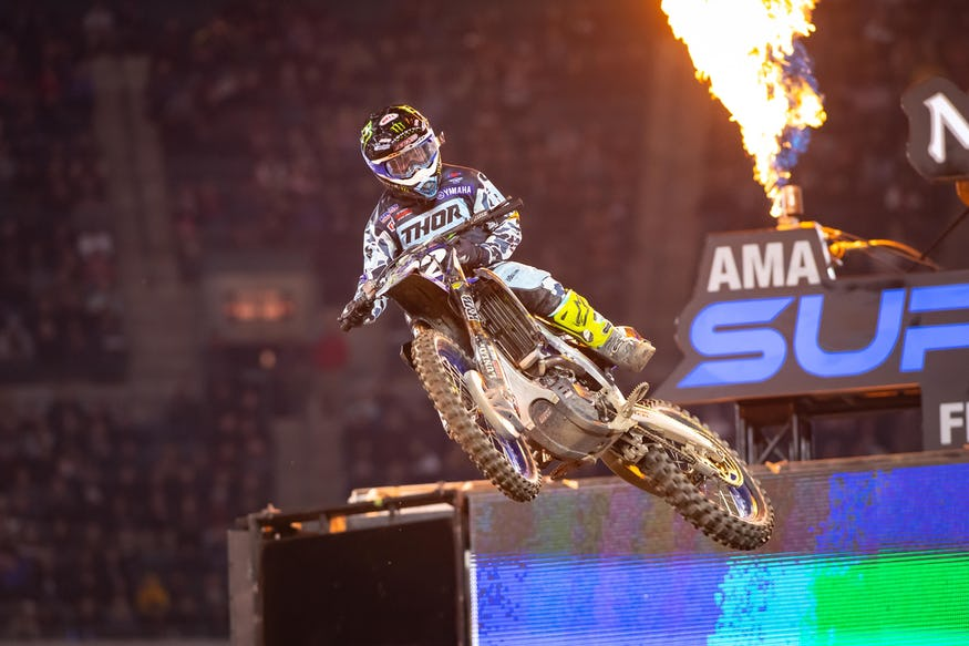 Justin Cooper bested the 250SX field after trailing Austin Forkner in the first half of the race.