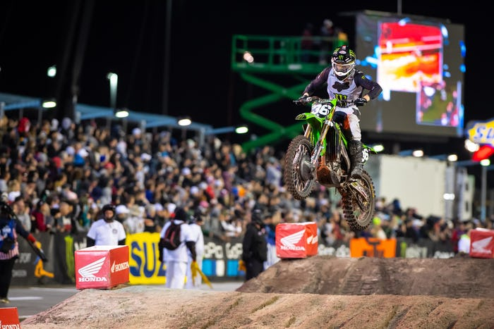 Marchbanks led all 14 laps of the 250SX main event.