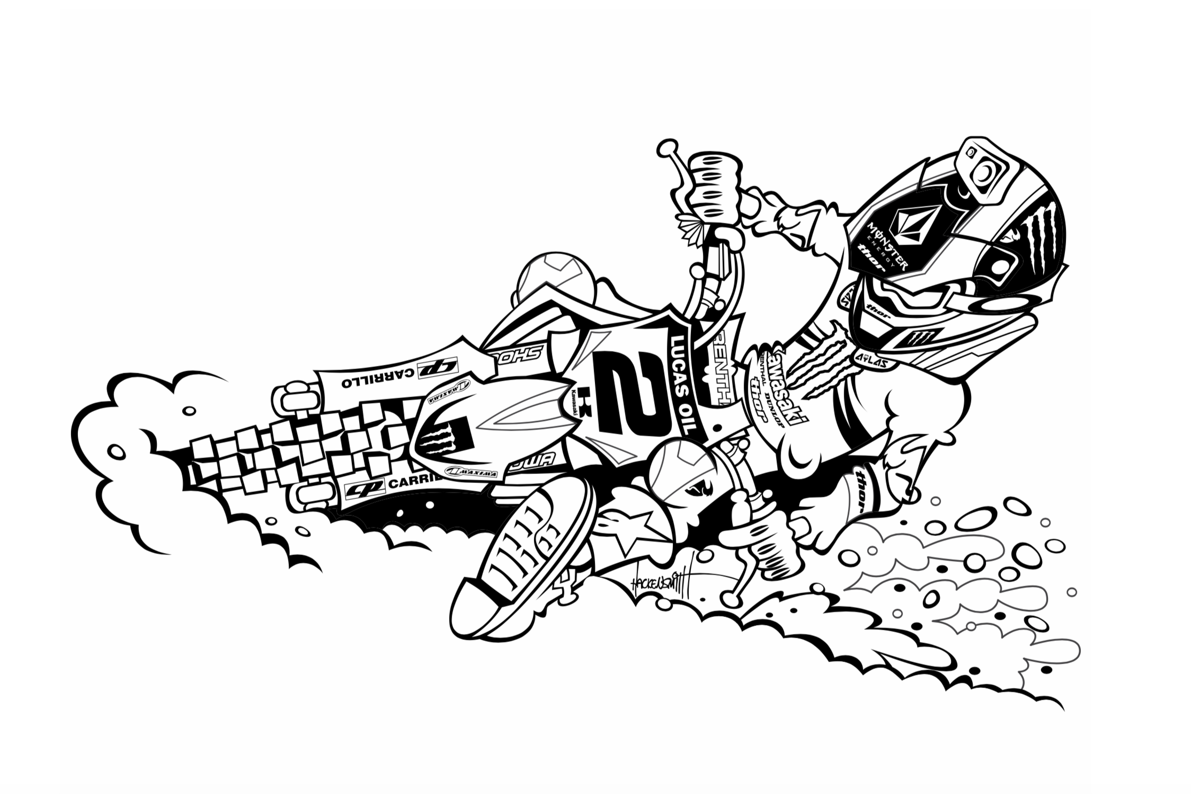 Downloadable Motocross Coloring Pages For Kids - Racer X Online