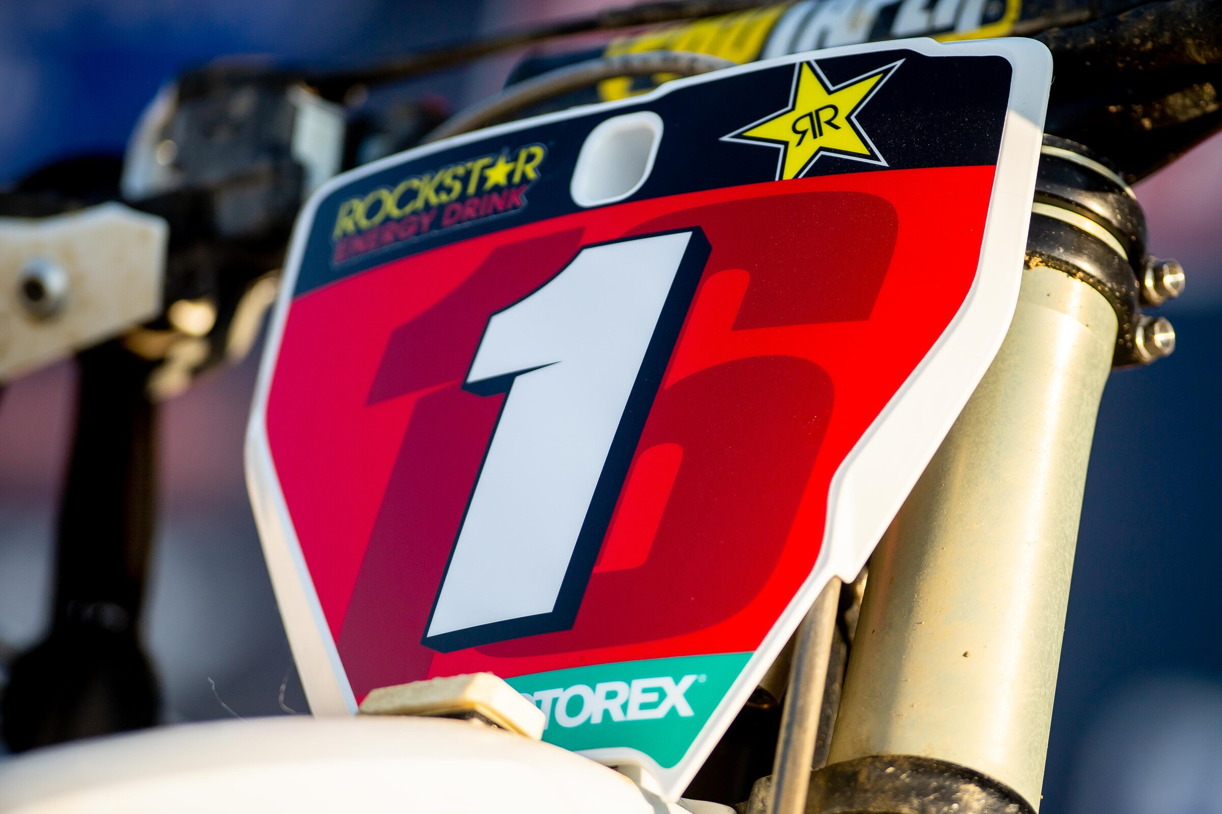 Zach Osborne's Husqvarna FC 450 with the #1 plate following the Virginia native's first premier class title.