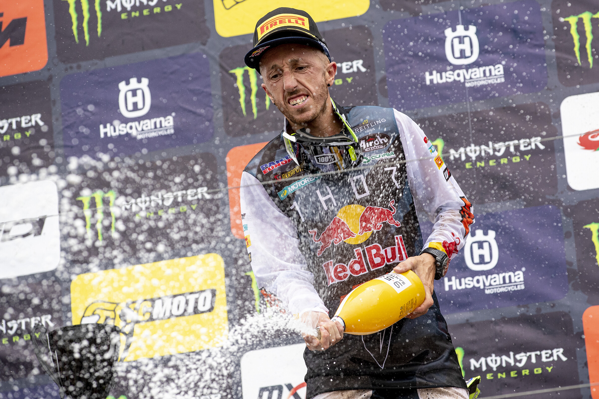 Antonio Cairoli's last win to date came at the 2021 MXGP of Great Britain. It was his 93rd Grand Prix victory.
